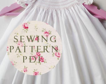 The Charming Bubble Dress for Newborn - Sewing PDF Pattern - How to Make - One Size - No Side Seams - Easy Way