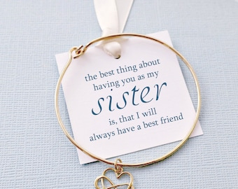 Gift for Sister | Infinity Bracelet, Bangles Band, Gift for Sister, Sister Bracelet,  Bangle, Gifts for Sisters, Sister Boho Gift | S05