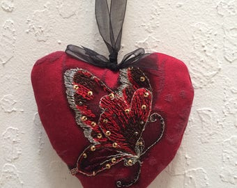 Loving Heart Butterfly Sachet