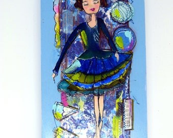 Art, Cradled Panel, Mixed Media, You are Awesome
