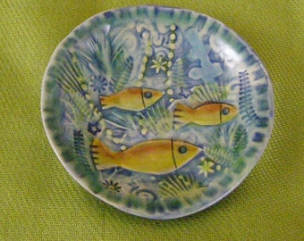 Small Porcelain Dish with fish design