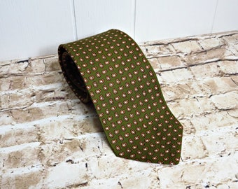 SALE - Brooks Brothers -Olive Silk Tie - Necktie - Vintage Tie - Vintage Brooks Brothers - Brooks Brothers Tie - Vintage Necktie - Paisley