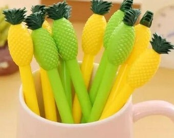 Pineapple Pen 0.38mm Black Ink • Cute Pen • Tropical Fruit Pen