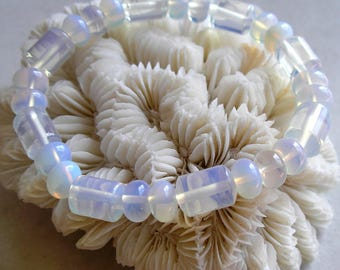 Opalite Beads Barrel Rondelle Shape For Beaded Jewelry Making Short Strand