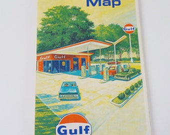 Vintage 1969 Minnesota Wisconsin Map • Vintage Rand McNally Gulf Map • Vintage Advertising Tourgide Map