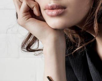 Trey cuff / gold, geometric bangle, gold bangle, gold bangle bracelet, gold Bangles , geometric bracelet, contour studio