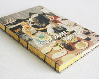 Old Book Journal / Recycled Vintage Book / Your Home and You Home Ec Text Rebound Journal by PrairiePeasant