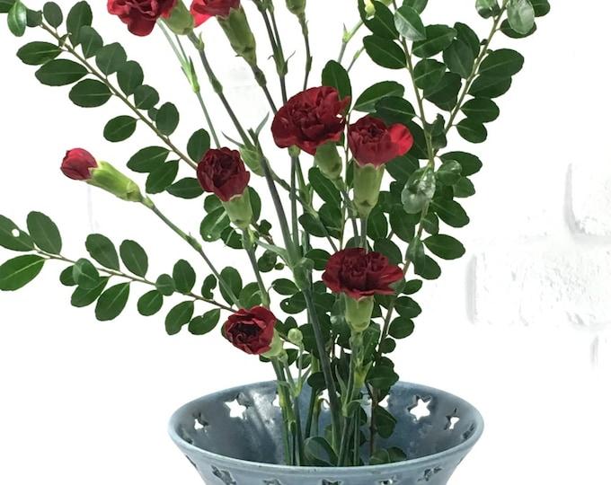 Featured listing image: Flower bowl, ikebana container, ceramic ikebana dish, ikebana flower dish, pottery bowl, candy bowl dish, pin frog bowl, trinket dish, vase
