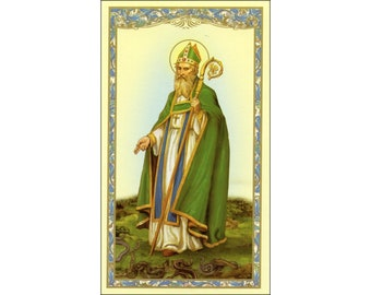 5 St Patrick Holy Cards (Prayer Cards) - Ireland - Irish - Blessing - St Patrick's Day