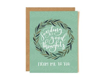 Sending Good Thoughts // Illustrated Card // 1canoe2