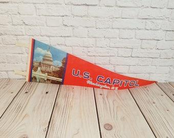 Vintage Washington DC US Capital Pennant
