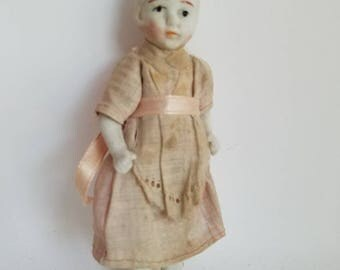 Vintage Porcelain Bisque Frozen Charlotte Doll Made in Japan