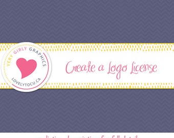 Logo license for stock or custom graphics, create a business logo, per image licensing (LIC02)