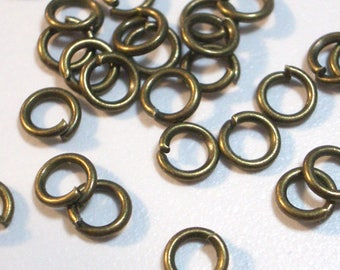 50 Pieces 4mm OR 6mm Antique Bronze Jump Rings Chain Mail Jump Rings Open Jump Rings Findings Jewelry Supply