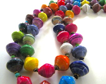 """Double-strand Paper with Sterling Necklace  - 24"""""""