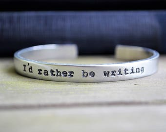 I'd Rather Be Writing Bracelet  - Reading - Gifts for Writers - Gifts for Readers - Under 20 - Under 25 - Stocking Stuffers - For Bloggers