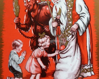 Krampus ~ Christmas ~ Mystical ~ Haunting ~ Foreboding ~ Allegorical - Devil ~ Wall Art
