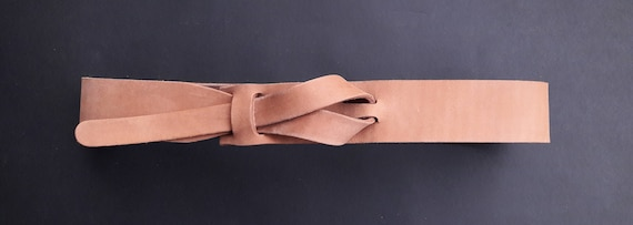 Spring Sale - Safari Outback Taupe Leather Belt by Muse  1.5 inch / Nickel Free