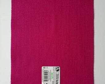 Fuschia ecofriendly felt sheet