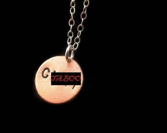 C Word Necklace, Slut, Boo You Whore, Cunt, Offensive, Vulgar, Azealia Banks, Copper Circle Necklace, Charm, Small Charm Necklace, Mature