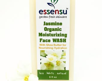 Jasmine Organic Moisturizing Aromatherapy Luxury Botanical Face Wash | Sensitive Skin | All Skin Types | Gentle | Vegan | No Sulfates - 6 oz