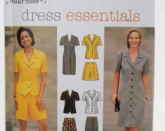Misses' Fashion Wardrobe Simplicity 7524 Sewing Pattern Women's Career Separates, Dress, Top, Flared Skirt, Pants, Shorts Size 14 - 18 UNCUT
