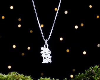 Sterling Silver Baby Dinosaur - Small, Double Sided - (Charm, Necklace, or Earrings)