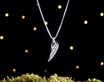 Sterling Silver Wing - Small - (Charm, Necklace, or Earrings)