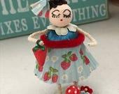 "Vintage Inspired Spun Cotton Chenille Strawberry Girl ""Shortcake"""