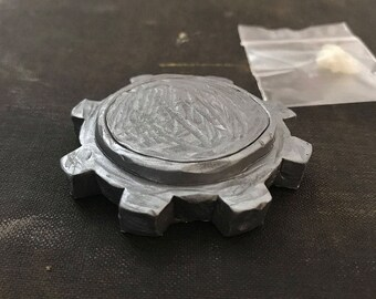 Pewter Resin Cast Cog Plinth