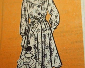 Vintage 1970s Sewing Pattern, Marian Martin 9341, Mail-Order Pattern, 9341, Misses' Dress, Misses' Size 12, Estate Sale Find, UNCUT, FF