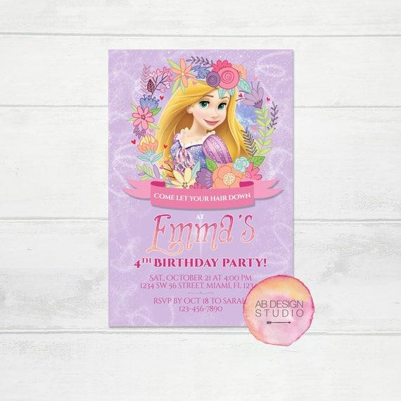 Tangled invitation princess rapunzel invitation disneys tangled il570xn filmwisefo