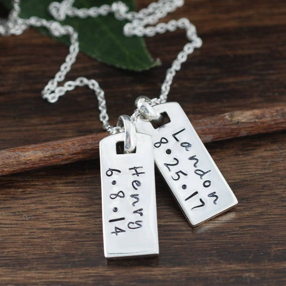 Personalized Dog Tag Name Necklace, Daddy Necklace, Gift for Dad, Father's Day Gift, Personalized Engraved Jewelry, Dog Tags for Him, Her
