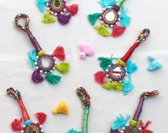 Decorative Tassels, Mirror Tassel,   Bag Accessory, Choose The Color -TA22