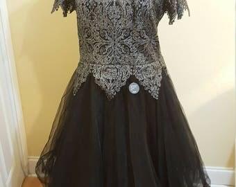 Retro style mesh swing dress size xl - NWT