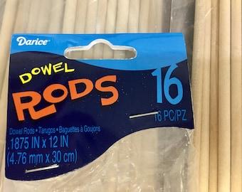 "Dowel Rods - 12"" x 3/8"" - crafting"
