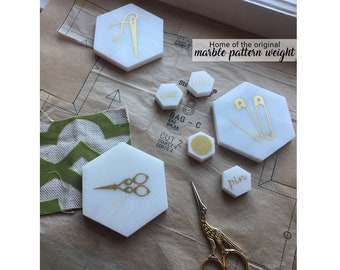 Marble Pattern Weights, Pattern Weights, Sewing weights, pattern, fabric weights, Fabric & Notions, Craft Supplies and Tools