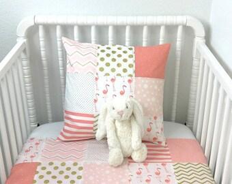 Bunting Banner Flags,Girl Nursery Decor,Birthday Decoration,Home Decor,Blush Pink,Gold,Flamingo Nursery,Tropical Nursery,Light Pink