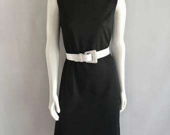 Vintage Women's 60's Mod Dress, Sleeveless, Knee Length (L)