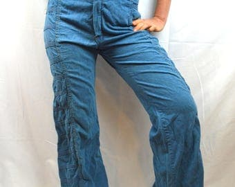 Vintage 70s 1970s Pants Bell Bottoms - Avon Family Fashions