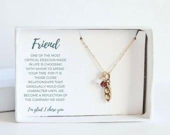 Best Friend Birthday Gift - Custom Gift for Friend - Custom Friendship Necklace - Gold Friend Necklace - Gold Best Friends Necklace for 2