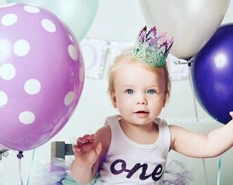 1st Birthday Dress   Mermaid Tutu Skirt   Birthday Tutu   Mint Purple Birthday Tutu Dress   Cake Smash Tutu   Under the Sea