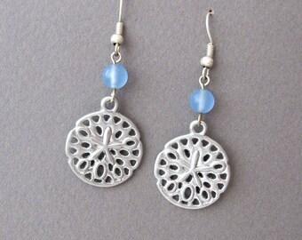 Sand Dollar  Summer Breeze Beach earrings