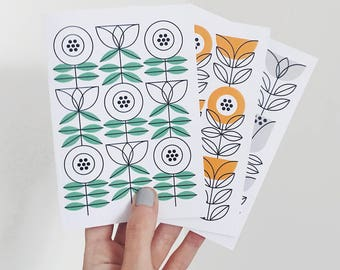 Set of 3 Stems Notebooks