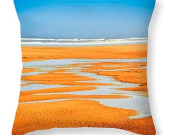 COLORFUL BEACH Decorative Throw pillow - 16x16, 18x18, 20x20, 24x24, 26x26, 20x14 cover plus insert, coastal decor, dorm decor, home accents