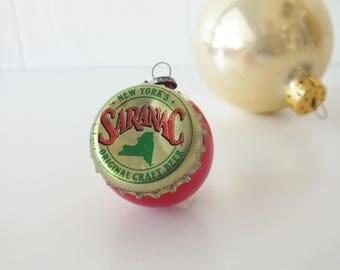 Recycled Saranac Beer Ornament