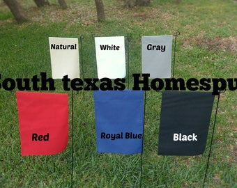 Colored Canvas Garden Flag, Single or Double layered Blank decorate with HTV, Paint Embroidery White, Natural, Gray, Black, Royal, Red