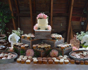 wedding cake stands rustic rustic wedding cupcake stand crate cupcake stand wood 25662