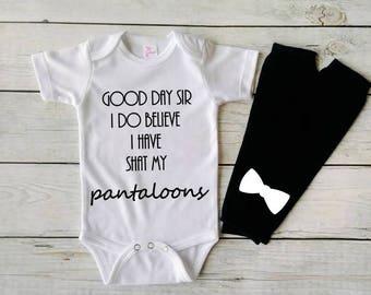 Funny baby Bodysuit - Good day sir- funny baby clothes- sayings on baby clothes - infant clothes- baby bodysuit -baby shower- new mom gift