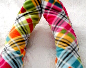Plaid Warm Socks, Women's Fleece Socks, Fleece Winter Socks Handmade, Ladies Socks, Women's Soft Warm Socks, Bed Socks, Gift for Seniors